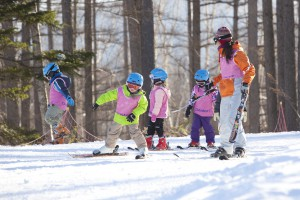 Childcare skiing