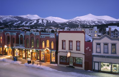 Breckenridge Main Street in winter