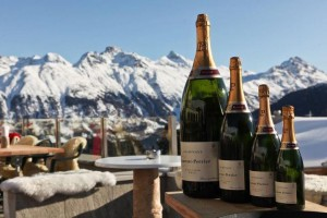 Champagne in St Moritz