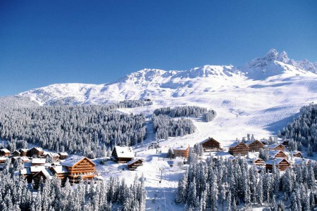 Three valleys ski region