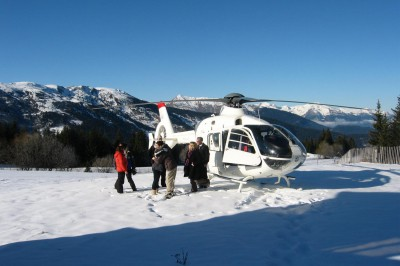 Helicopter resort transfer