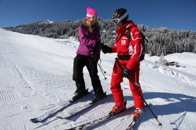 Individual skiing instruction